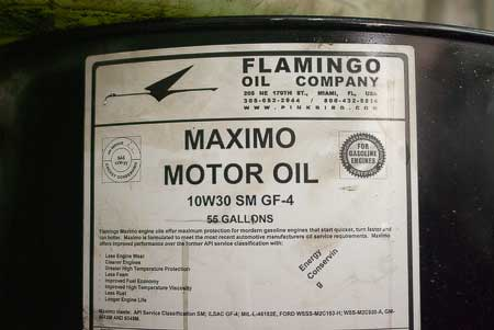 drum of maximo motor oil