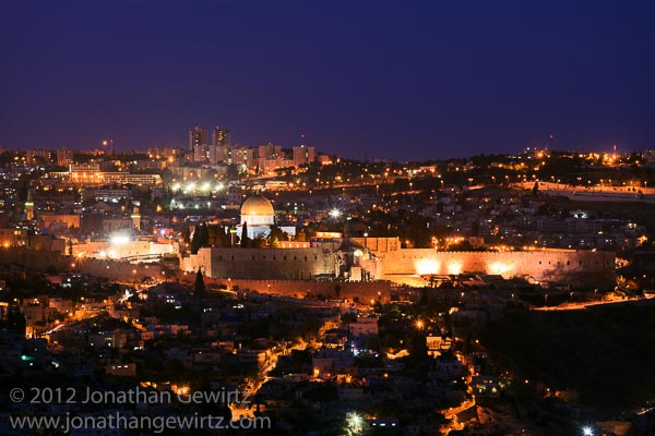 Jerusalem Old City at Night